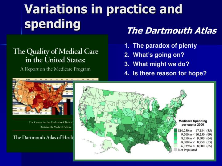 Variations in practice and spending