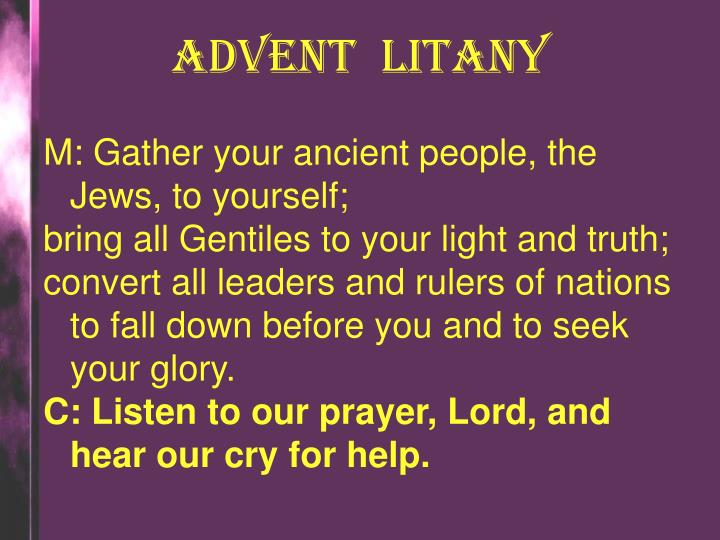 ADVENT  LITANY