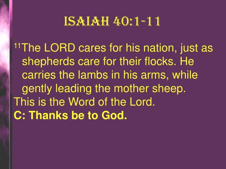 Isaiah 40:1-11
