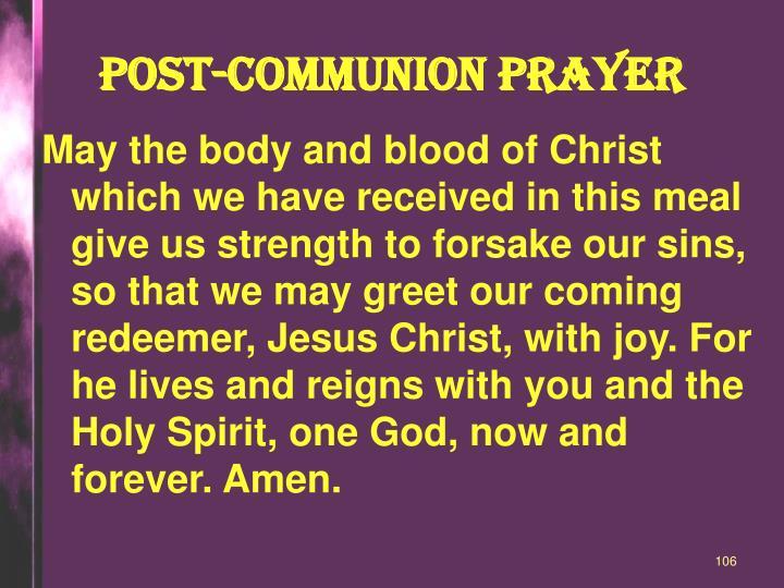 POST-COMMUNION Prayer