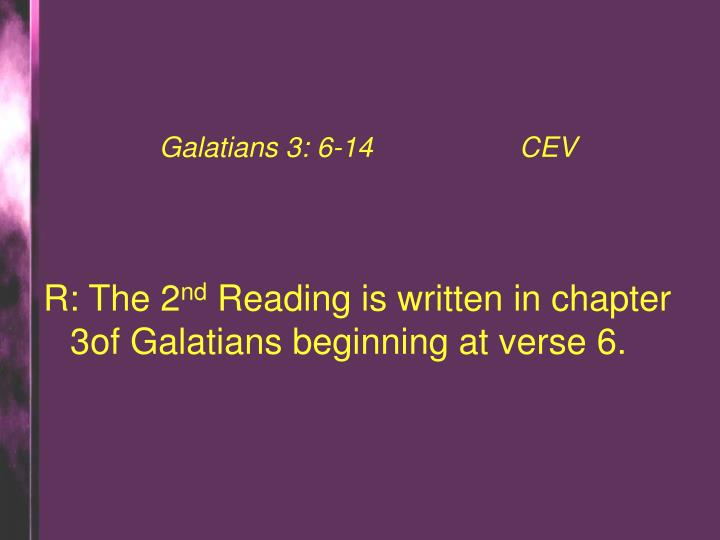 Galatians 3: 6-14CEV