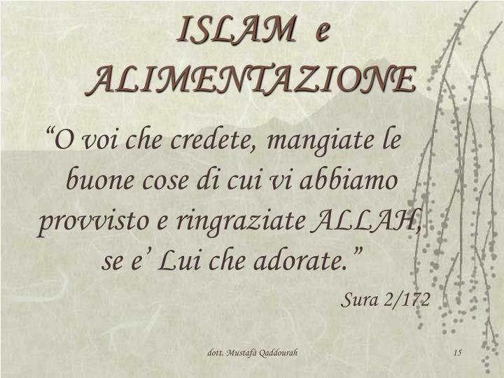 ISLAM  e  ALIMENTAZIONE