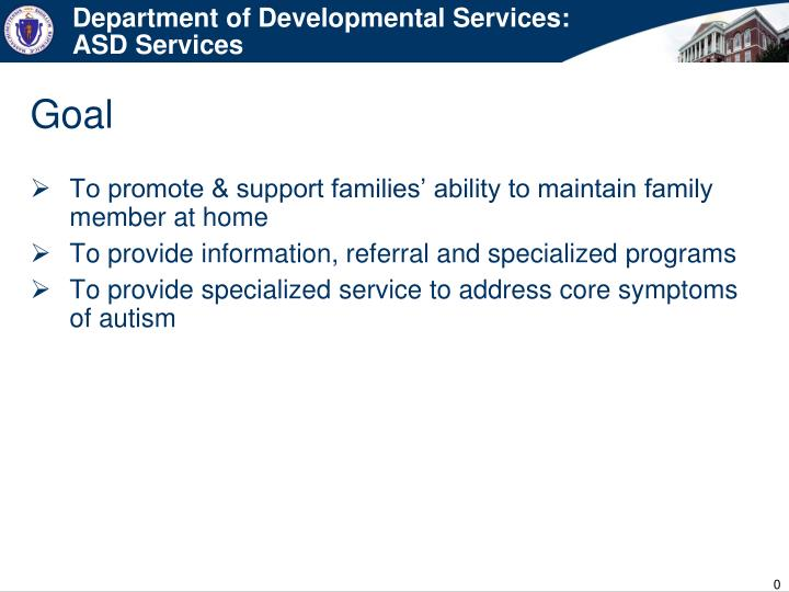 department of developmental services asd services