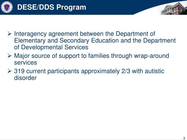 DESE/DDS Program