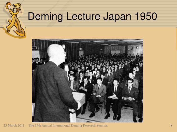 Deming Lecture Japan 1950