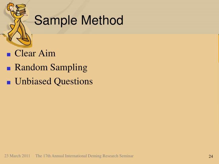 Sample Method