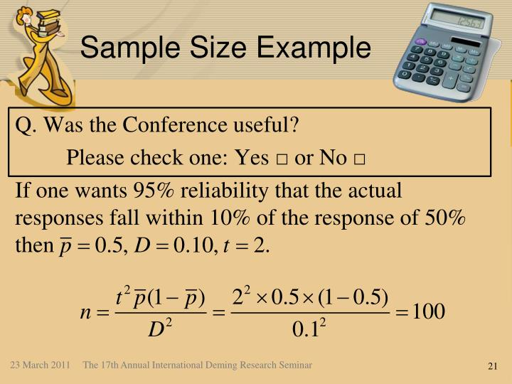 Sample Size Example