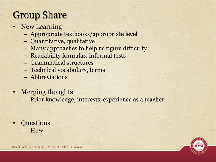 Group Share