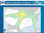 severe weather outlook saturday