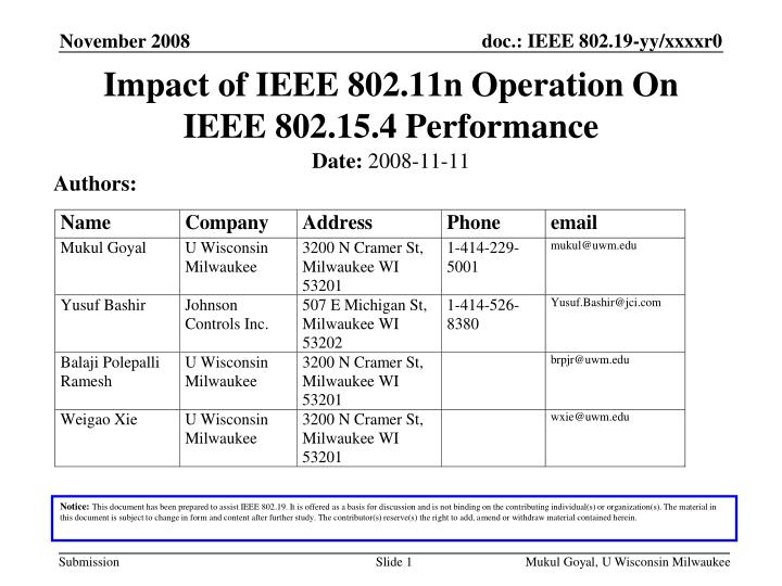 Impact of ieee 802 11n operation on ieee 802 15 4 performance
