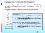 the asynchronous beam dump1