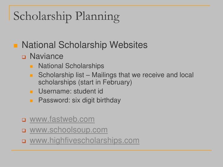 Scholarship Planning