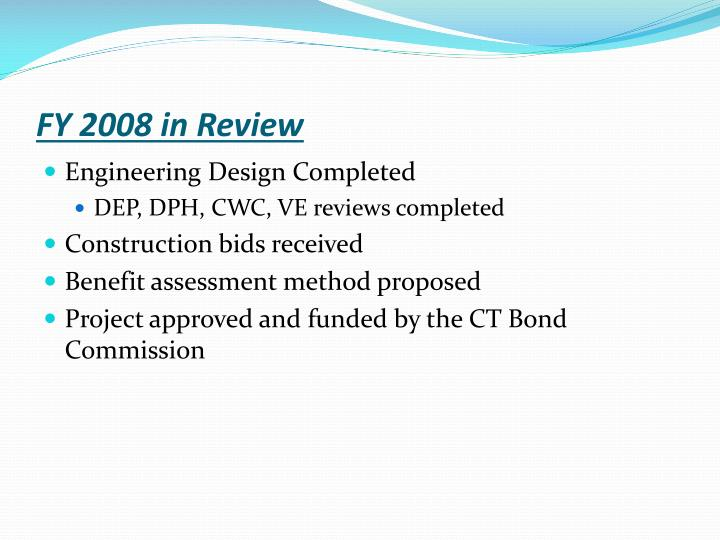 FY 2008 in Review