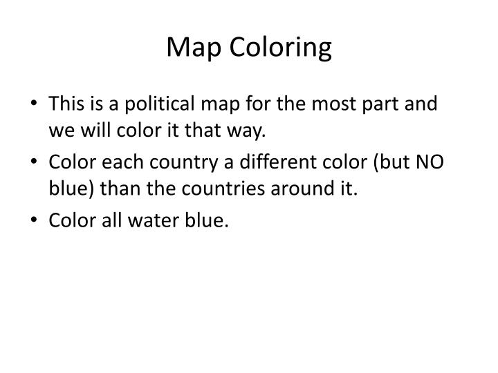 Map Coloring