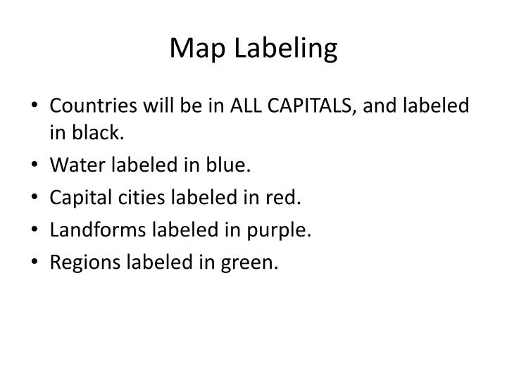 Map Labeling