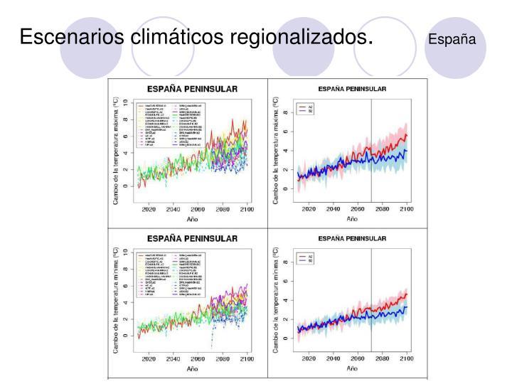 Escenarios climáticos regionalizados