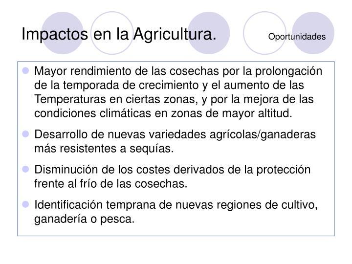 Impactos en la Agricultura.