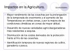 impactos en la agricultura oportunidades