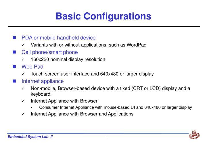 Basic Configurations