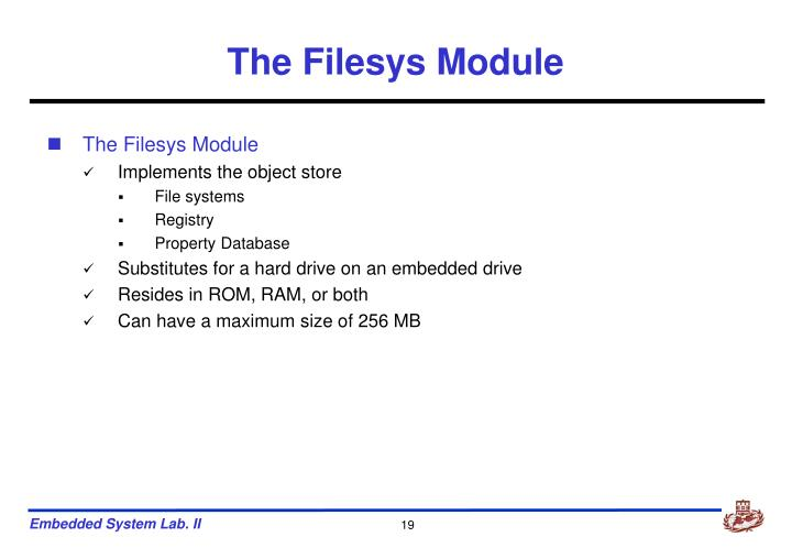 The Filesys Module