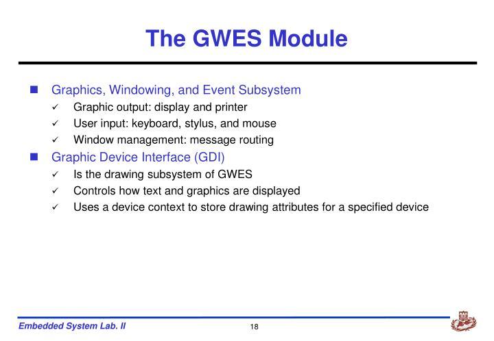 The GWES Module