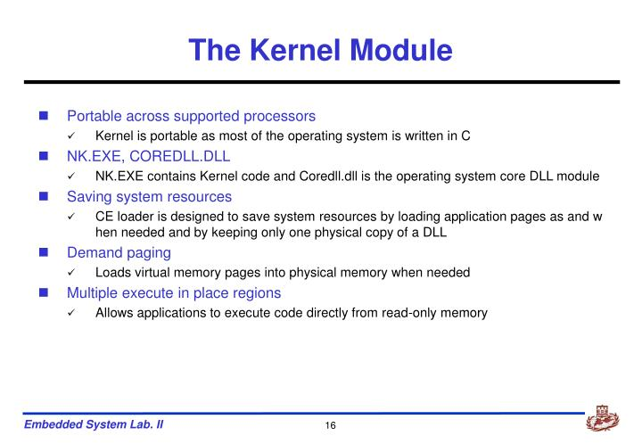 The Kernel Module