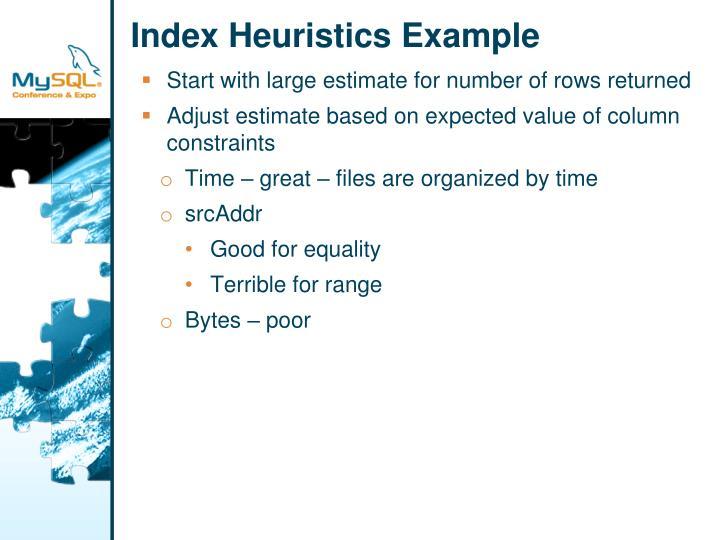 Index Heuristics Example