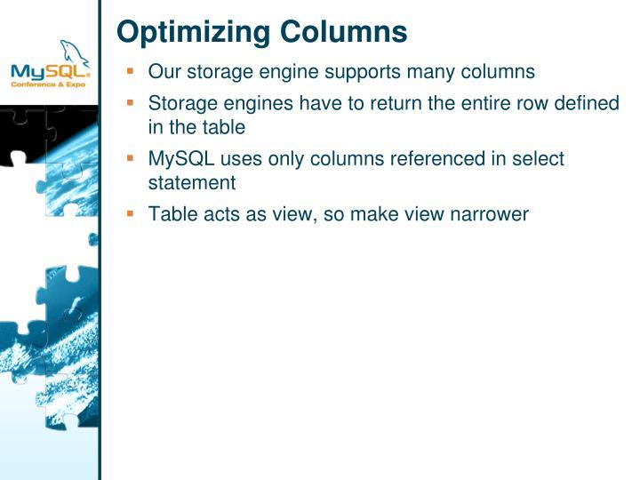 Optimizing Columns