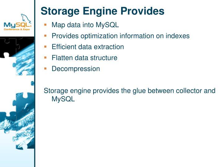 Storage Engine Provides