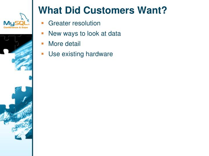 What Did Customers Want?