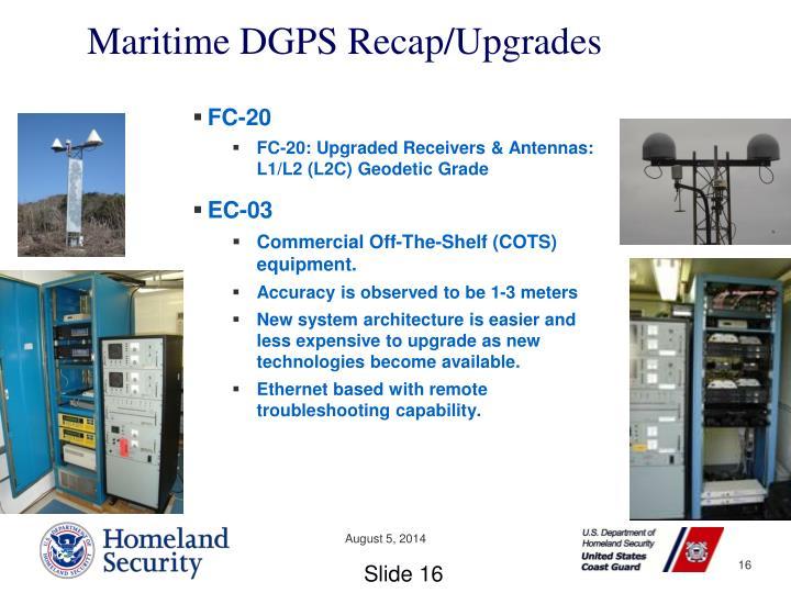 Maritime DGPS Recap/Upgrades