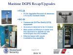maritime dgps recap upgrades