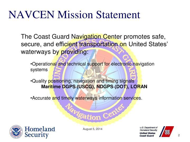 NAVCEN Mission Statement