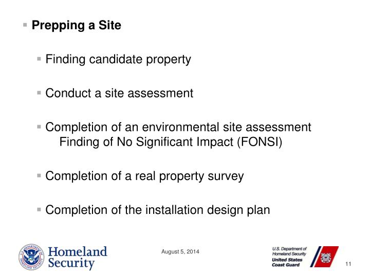 Prepping a Site