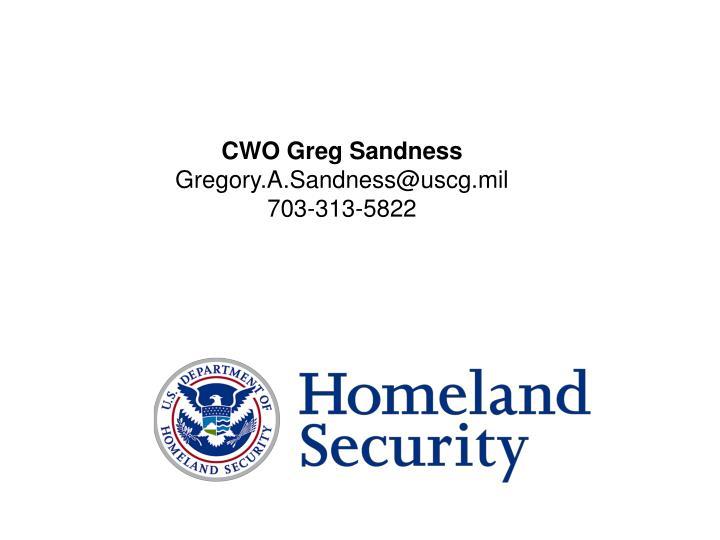 CWO Greg Sandness