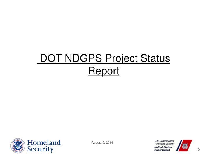 DOT NDGPS Project Status