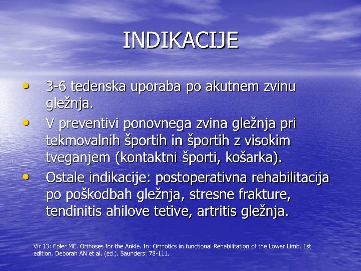 INDIKACIJE
