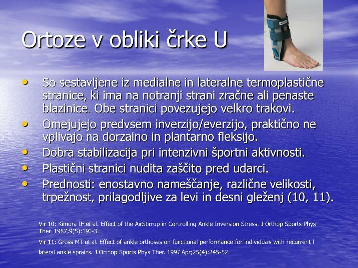 Ortoze v obliki črke U