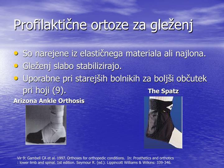 Profilaktične ortoze za gleženj