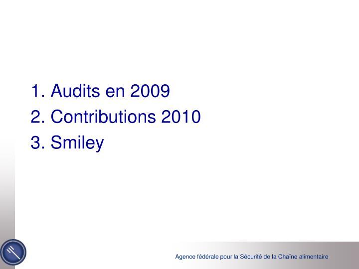 1. Audits en 2009