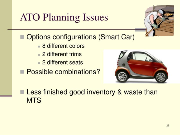 ATO Planning Issues