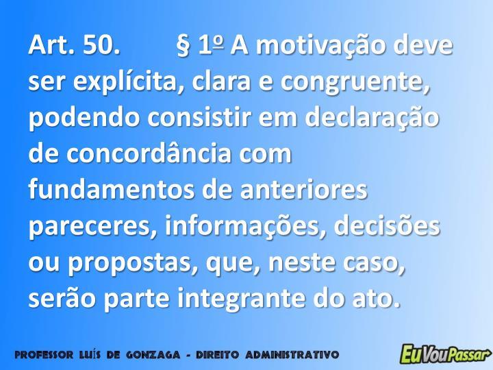 Art. 50. § 1