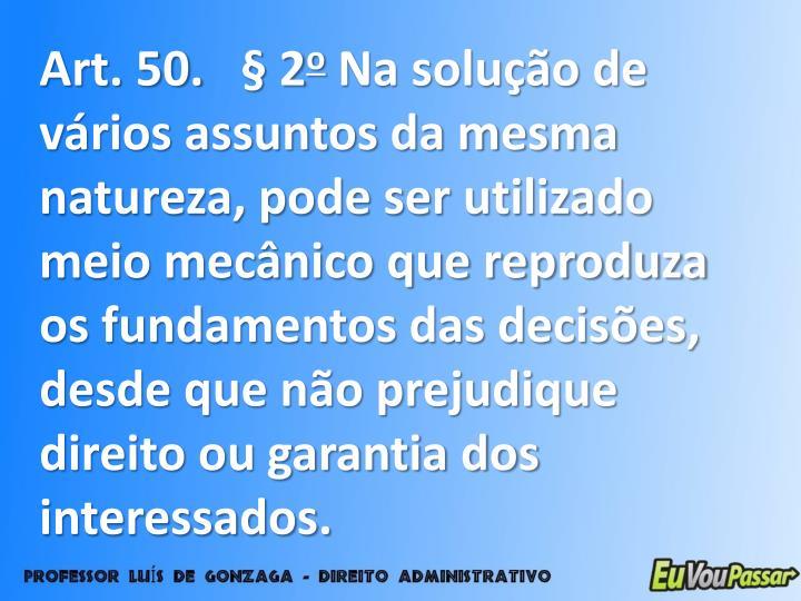 Art. 50. § 2
