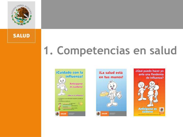 1. Competencias en salud