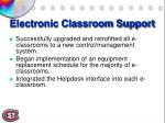 electronic classroom support