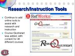 research instruction tools