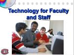 technology for faculty and staff