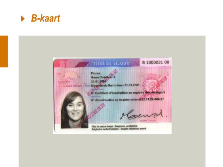 B-kaart