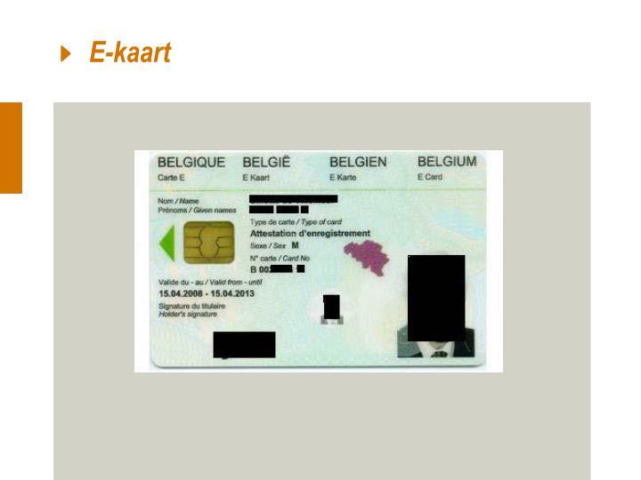 E-kaart