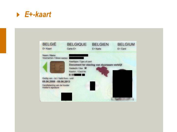 E+-kaart